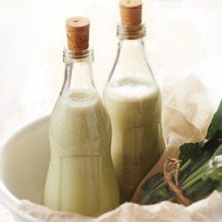 Sok bananowo-szpinakowy na mleku sojowym